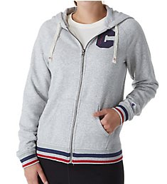Champion Heritage Fleece Full Zip Jacket with Stripe Trim W9536H
