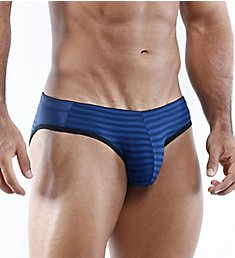 Cover Male Innovation Striped Large Pouch Bikini Brief CMJ007