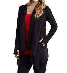 Cuddl Duds Fleecewear with Stretch Long Sleeve Hooded Wrap Up 8019665