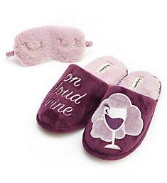 Dearfoams Cloud Wine Slipper & Eye Mask Set 30572CW