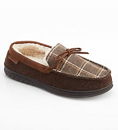 Dearfoams Ethan Plaid Moc Slipper With Memory Foam 30890