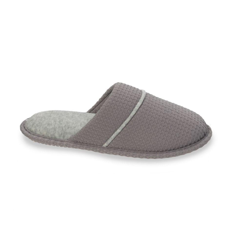 Dearfoams Textured Knit Closed Toe Scuff Slipper 50537