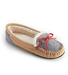 Dearfoams Microsuede Moccasin With Quilted Tab Slipper 50638