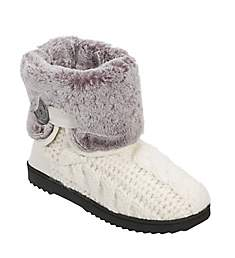 Dearfoams Cable Knit Boot with Plush Cuff 50644
