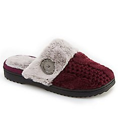 Dearfoams Cable Knit Closed Toe Scuff Slipper 50645