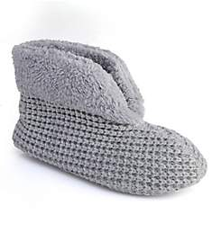 Dearfoams Textured Knit Bootie 50956