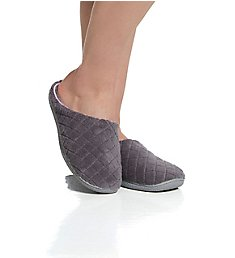 Dearfoams Leslie Quilted Microfiber Terry Clog Slipper 51705