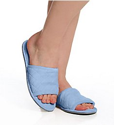 Dearfoams Microfiber Terry Slide with Quilted Vamp 51707