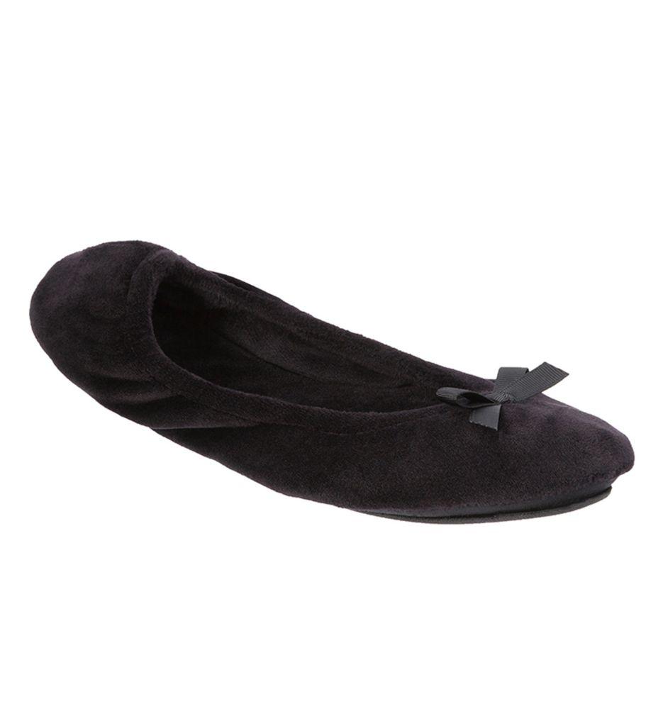 Dearfoams Plush Velour Ballerina Slipper 51710