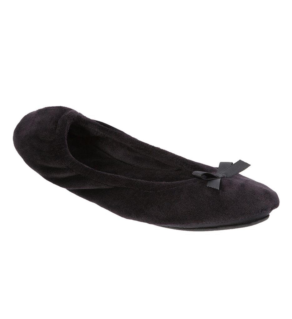 Dearfoams Plush Velour Ballerina Slipper 51710