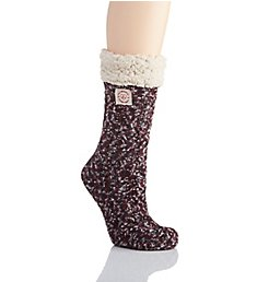 Dearfoams Marled Cable Knit Blizzard Slipper Sock 75003