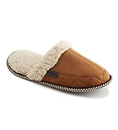 Dearfoams Microsuede Quilted Scuff Slipper With Memory Foam 80205