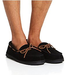 Dearfoams Suede Moccasin Slipper With Memory Foam 80313