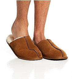 Dearfoams Genuine Suede Closed Toe Scuff Slipper 80373