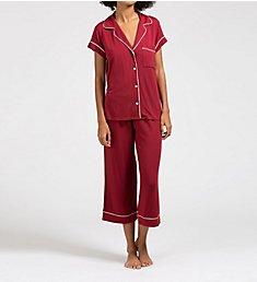 Eberjey Gisele Short Sleeve and Cropped Pant PJ Set PJ1018T