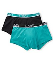 Emporio Armani Color Cotton Stretch Trunks - 2 Pack 2107P715