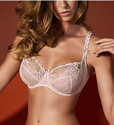 Empreinte Tosca Embroidered Tulle Underwire Low Neck Bra 08181