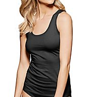 fine lines Pure Cotton Wide Strap Rounded Neck Camisole 13RTS34