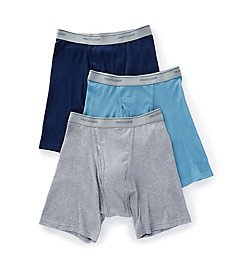 Fruit Of The Loom Core 100% Cotton Assort Boxer Briefs - 3 Pack 3BB761C