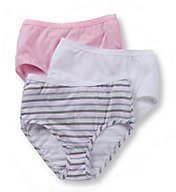 Fruit Of The Loom Ladies Cotton Brief Wardrobe Panty - 3 Pack 3DBRIAS