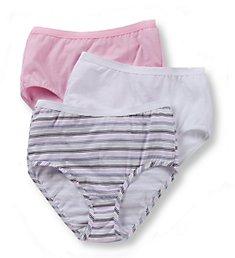 Fruit Of The Loom Ladies Cotton Brief Wardrobe Panty - 3 Pack 3DBRIAS