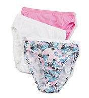 Fruit Of The Loom Ladies' Cotton Hi Cut Panties Multi - 3 Pack 3DHICAS