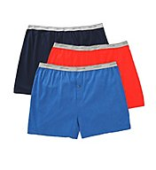 Fruit Of The Loom Big Man's Assorted Cotton Knit Boxers - 3 Pack 3P72XBM