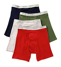 Fruit Of The Loom Extended Size Core Cotton Boxer Briefs - 4 Pack 4BB76CX