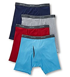 Fruit Of The Loom Coolzone Extended Size Boxer Briefs - 4 Pack 4BL76CX
