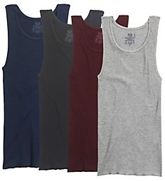 Fruit Of The Loom Extended Size Assorted Cotton A-Shirts - 4 Pack 4P261CX