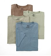 Fruit Of The Loom Assorted Cotton Fashion Pocket Tee - 4 Pack 4P3001C