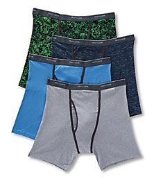 Fruit Of The Loom Extended Size Assort Ringer Boxer Briefs - 4 Pack 4RBB1CX