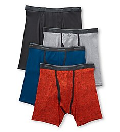 Fruit Of The Loom Coolzone Extended Size Boxer Briefs - 4 Pack 4RBL1CX