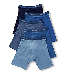 Fruit Of The Loom Assorted Blue Boxer Briefs - 5 Pack 5BLBB7C