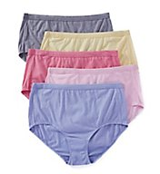 Fruit Of The Loom Fit For Me Beyond Soft Brief Panties - 5 Pack 5DBSBRP