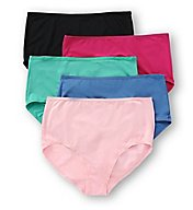 Fruit Of The Loom Assorted Microfiber Brief Panties - 5 Pack 5DMF201