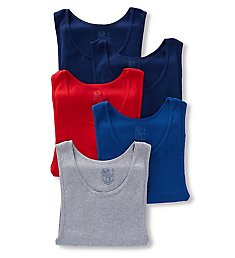 Fruit Of The Loom Men's Assorted Core Cotton A-Shirts - 5 Pack 5P2601C