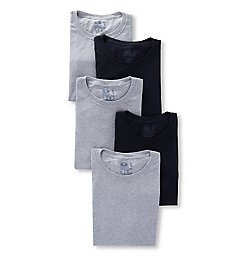 Fruit Of The Loom Stay Tucked Cotton Crew T-Shirts - 5 Pack 5P2801