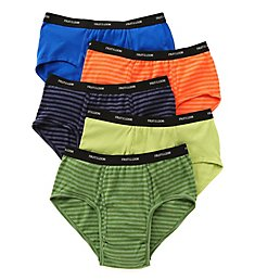 Fruit Of The Loom Extended Size Stripes & Solids Briefs - 5 Pack 5P4619X