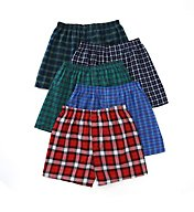 Fruit Of The Loom Assorted Tartan Plaid Woven Boxers - 5 Pack 5P590