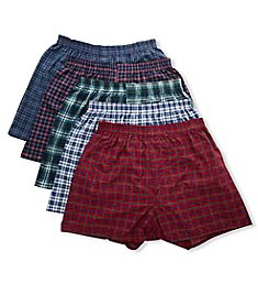 Fruit Of The Loom Assorted Tartan Plaid Woven Boxers - 5 Pack 5P590TG