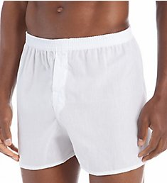 Fruit Of The Loom Core Solid White Woven Boxers - 5 Pack 5P595