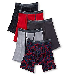 Fruit Of The Loom Assorted Ringer Boxer Briefs - 5 Pack 5RBB01C