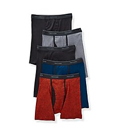 Fruit Of The Loom Coolzone Ringer Boxer Briefs - 5 Pack 5RBL01C