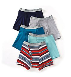 Fruit Of The Loom Assorted Cotton Short Leg Boxer Briefs - 5 Pack 5SL4619