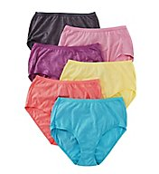Fruit Of The Loom Beyond Soft Assorted Brief Panties - 6 Pack 6DBSBR1