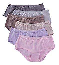 Fruit Of The Loom Beyond Soft Boyshort Panties - 6 Pack 6DBSBS2