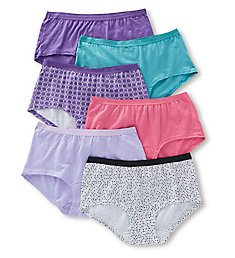 Fruit Of The Loom Cotton Assorted Low Rise Boyshort Panty - 6 Pack 6DBSTA1
