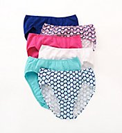 Fruit Of The Loom Cotton Stretch Hi-Cut Brief Panties - 6 Pack 6DCSHCU
