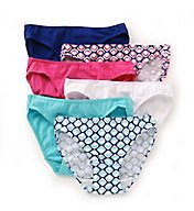 Fruit Of The Loom Assorted Cotton Stretch Bikini Panties - 6 Pack 6DCW054